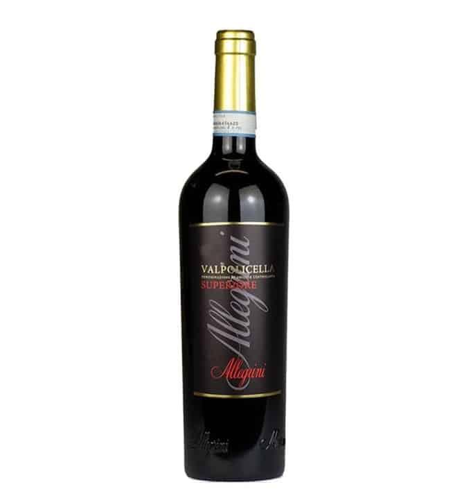 A bottle of Valpolicella Superiore
