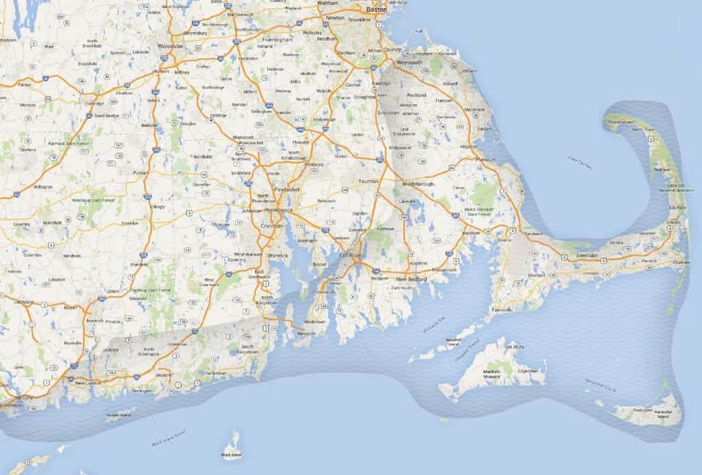 Coastal Wine Tail Map