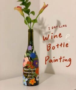 Decorate a Wine Bottle with Words and Paintings Mixed 3