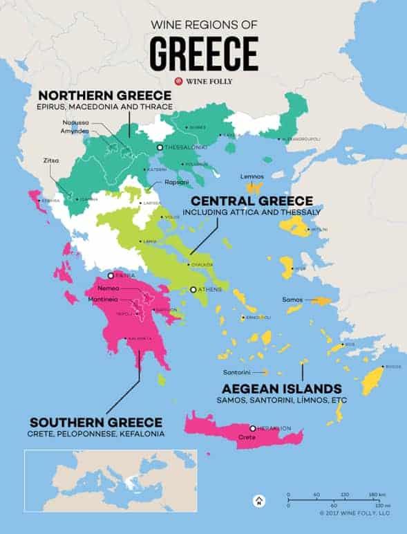 Greece wine map