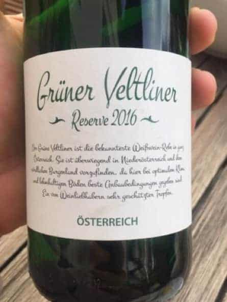 Grüner veltliner wine