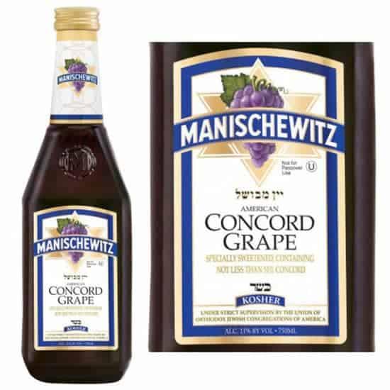 Manischewitz Concord grape wine