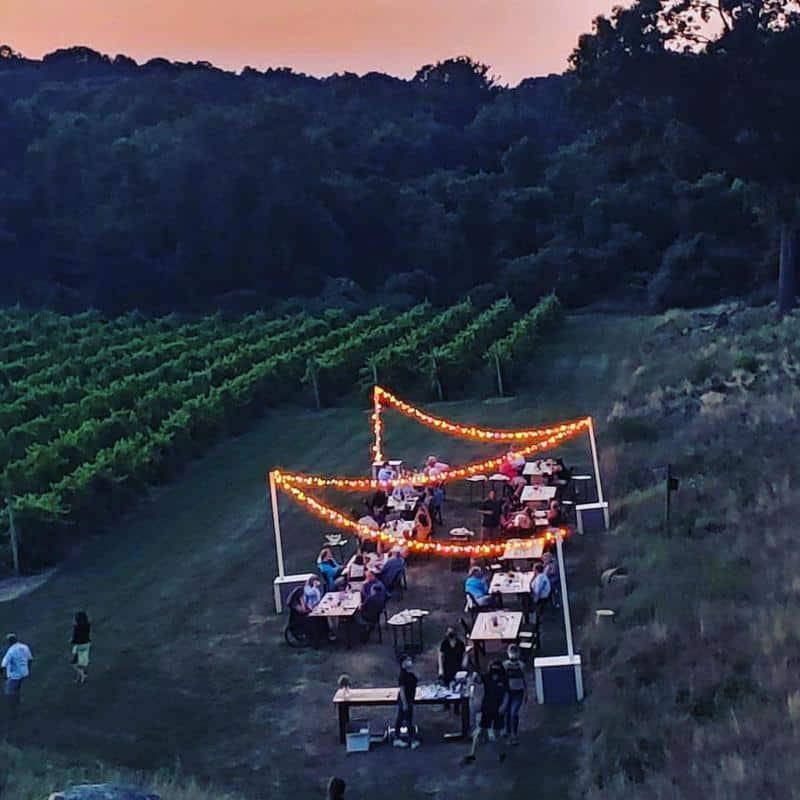 Preston Ridge Vineyard Dinner In The Vines