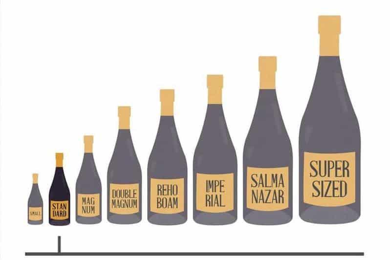wine bottle dimensions