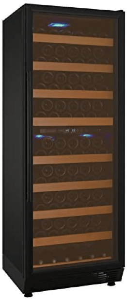Allavino YHWR99-2BRN 99 Bottle Dual-Zone Wine Cellar Refrigerator