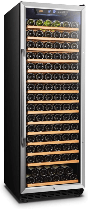 Lanbo LW177S 171 bottle Compressor Single Zone Wine Cooler with Safety Lock