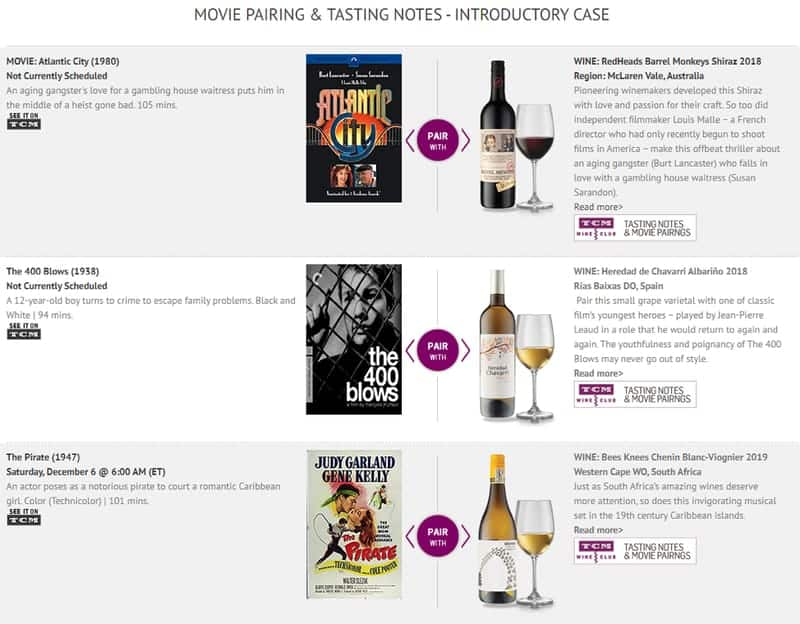 TCM Wine Selection and Brands