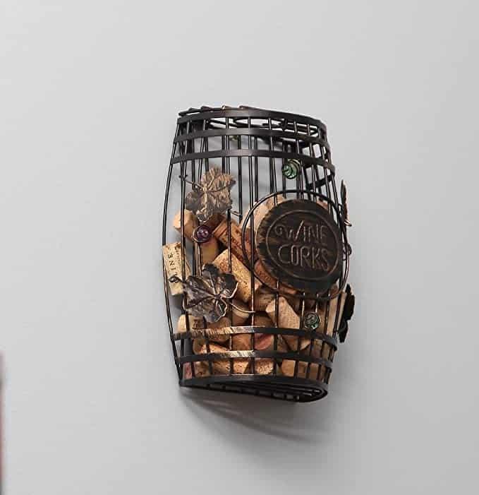 Home-X Wall Mounted Metal Cork Holder