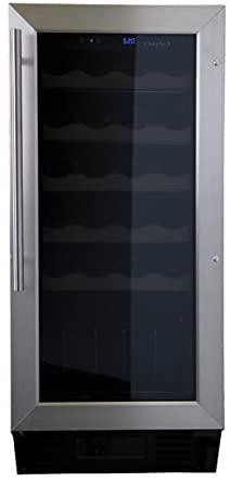 Haier HVCE15BBH Built-In or Freestanding 26-Bottle Wine Cellar